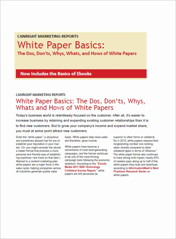 Free White Paper Template Word Luxury 13 White Paper Templates – Pdf Word