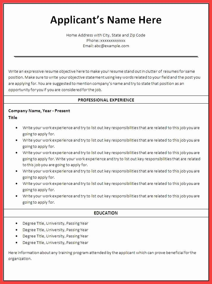 Free Word Resume Templates 2016 Awesome 2016 Resume Templates Free