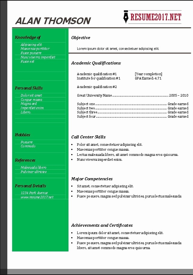 Free Word Resume Templates 2016 Beautiful Resume Template Free 2017