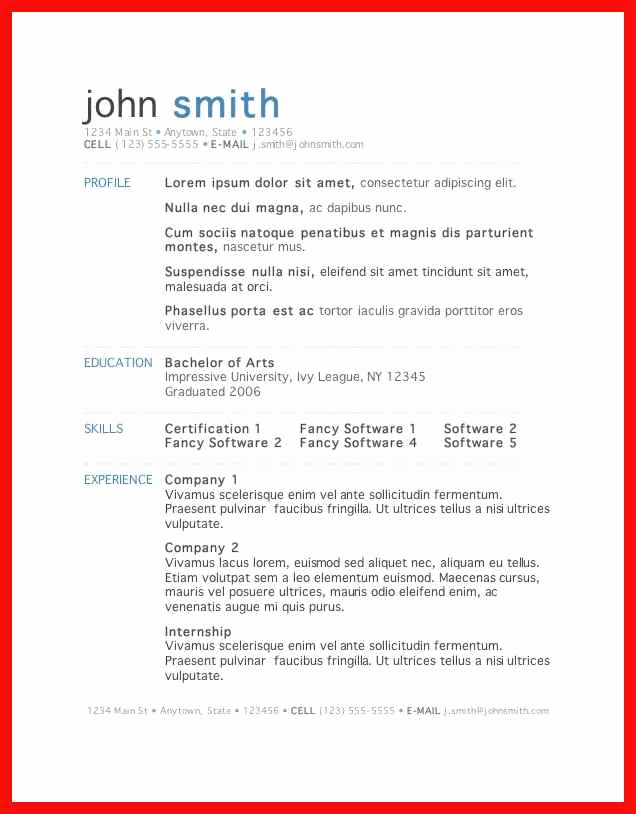 Free Word Resume Templates 2016 Best Of Word Resume Template 2016