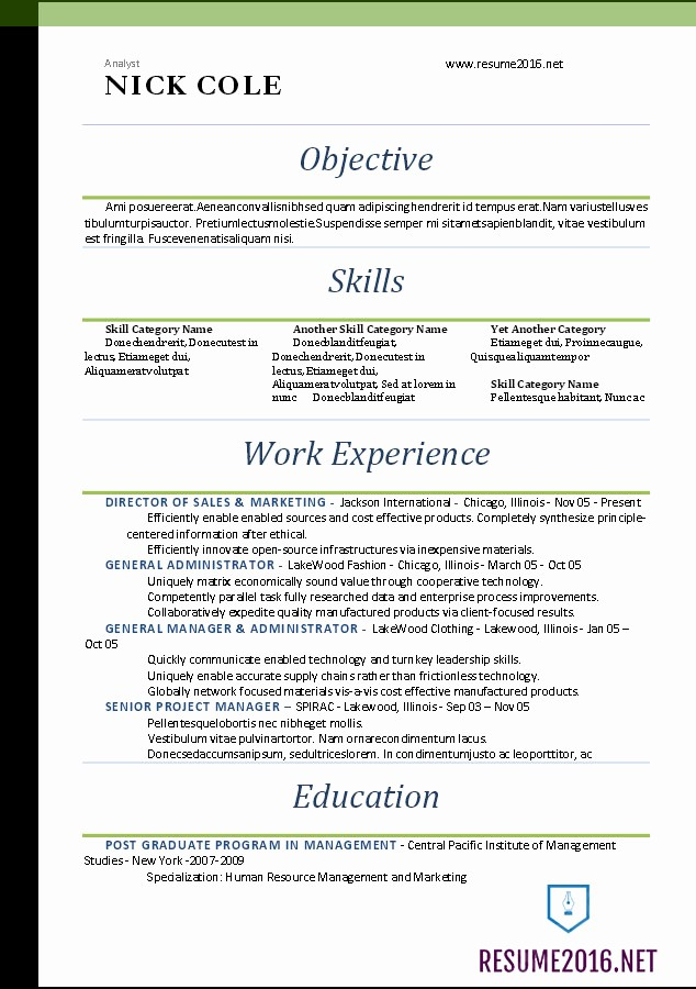 Free Word Resume Templates 2016 Elegant Word Resume Templates 2016