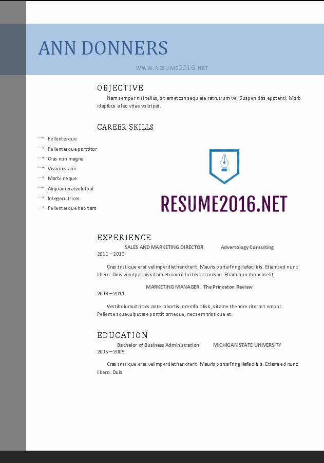 Free Word Resume Templates 2016 Luxury Word Resume Templates 2016