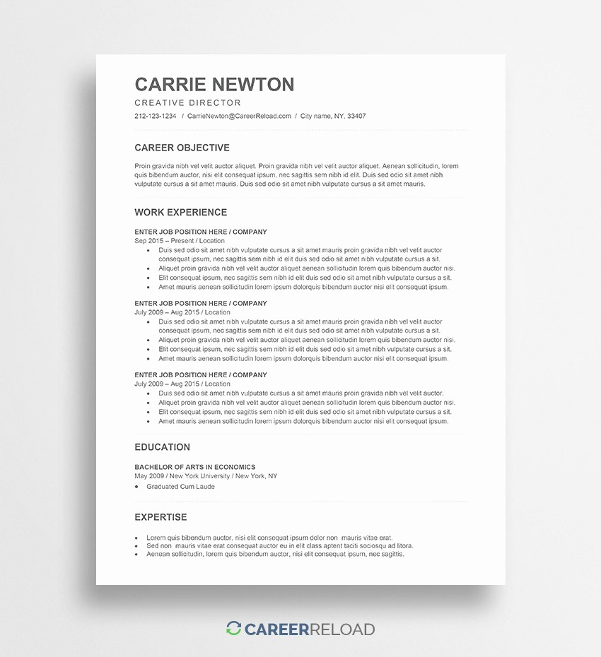 Free Word Resume Templates 2018 Best Of Free Word Resume Templates Free Microsoft Word Cv Templates