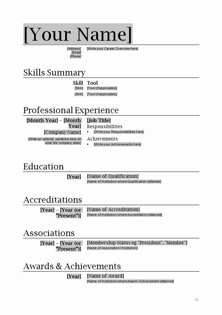 Free Word Resume Templates 2018 Elegant Microsoft Fice Resume Builder Free