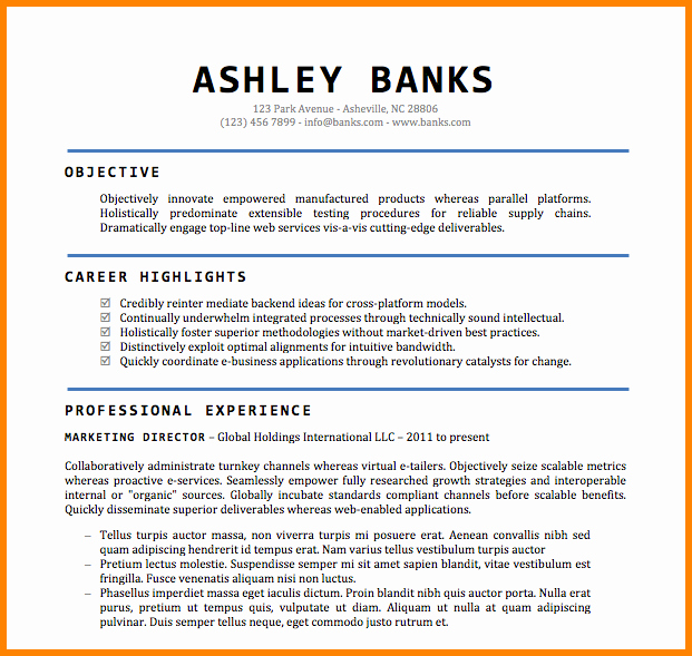 Free Word Resume Templates 2018 Fresh 7 Director Resume Template Word