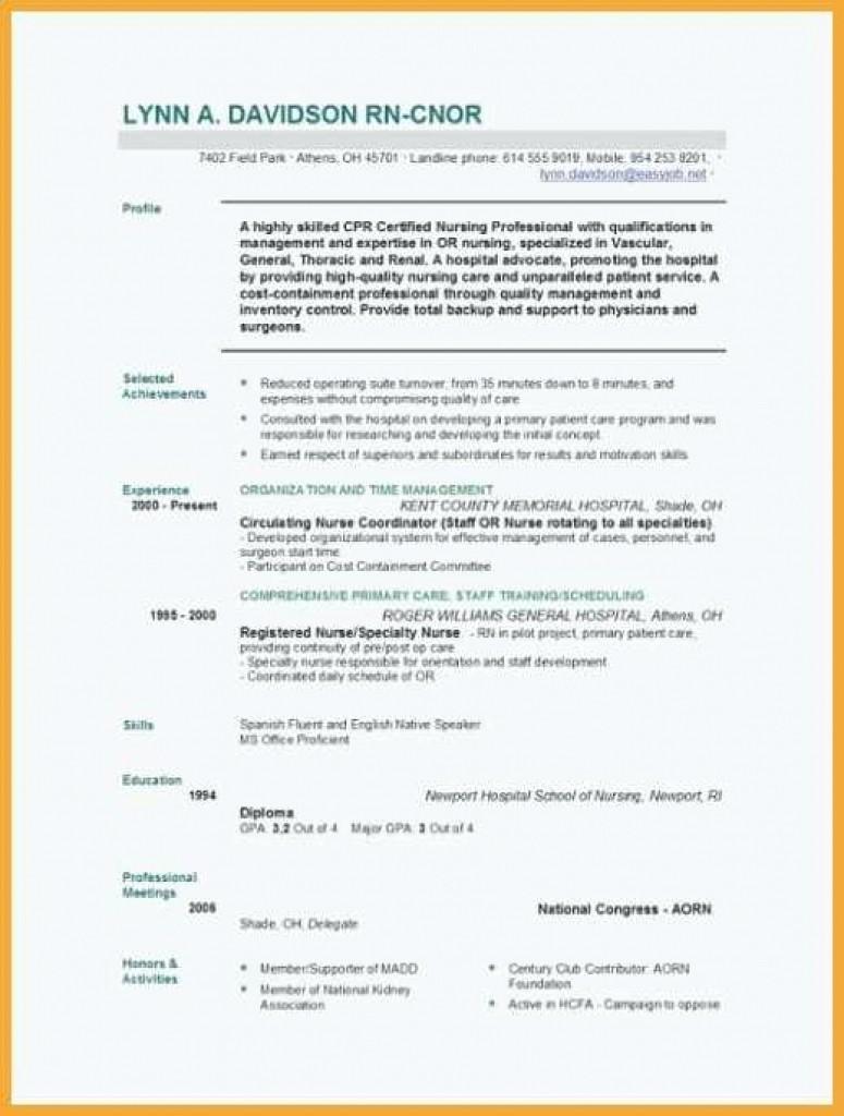 Free Word Resume Templates 2018 Inspirational Nursing Resume Template Word