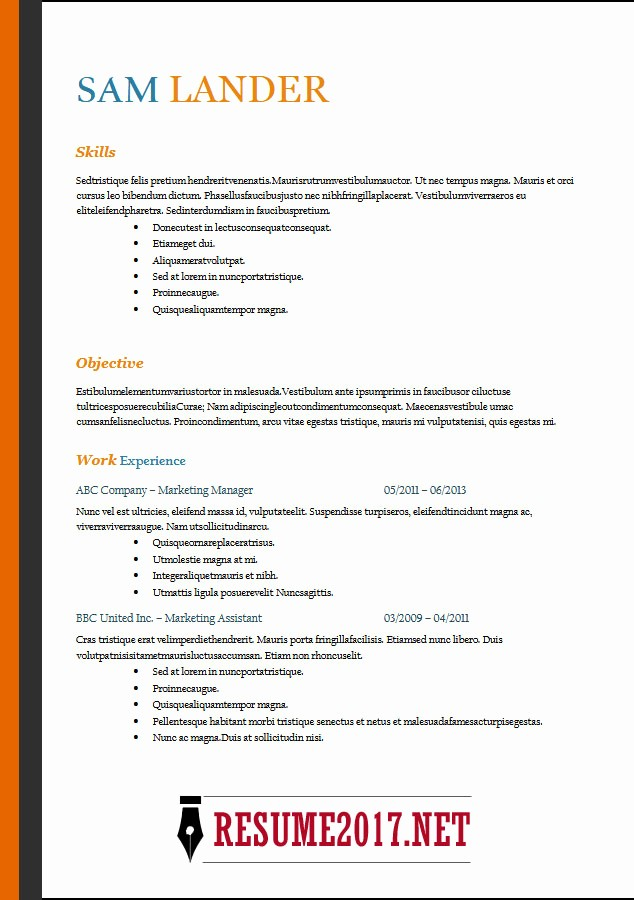 Free Word Resume Templates 2018 Inspirational Resume format 2018 16 Latest Templates In Word