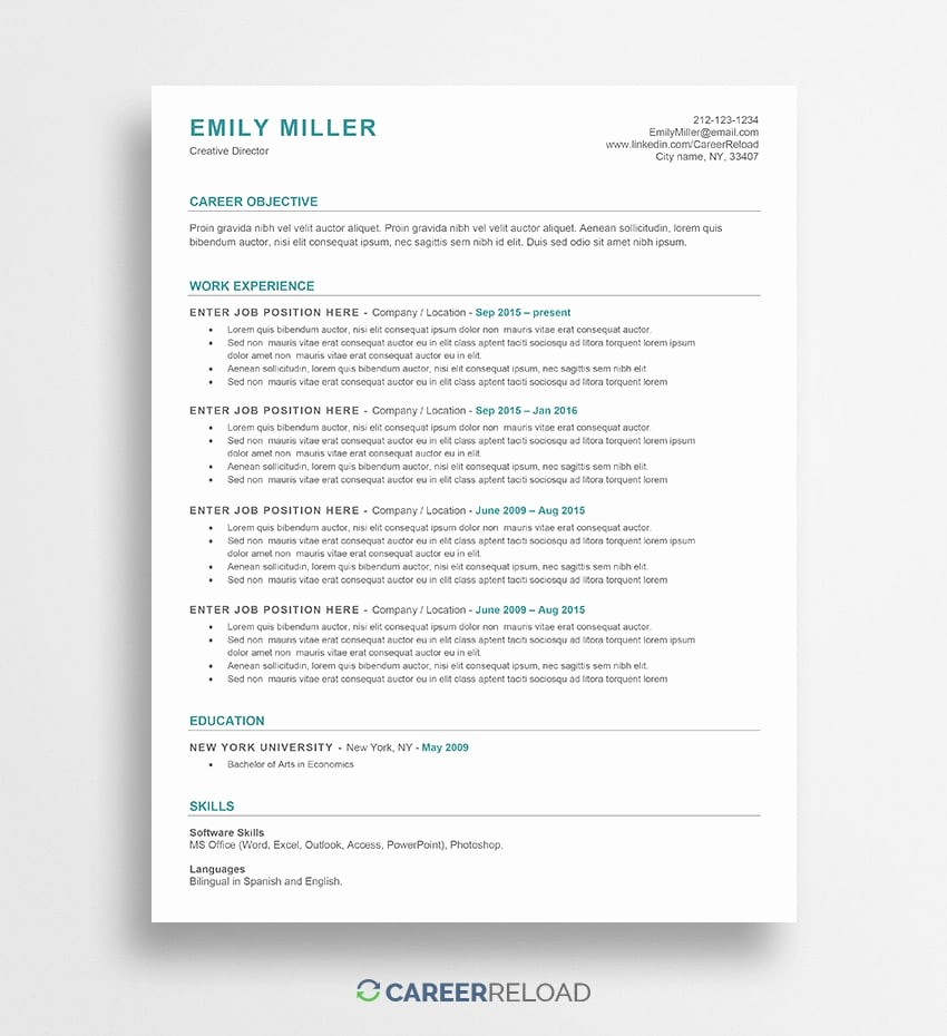 Free Word Resume Templates 2018 Luxury Free Word Resume Templates Free Microsoft Word Cv Templates