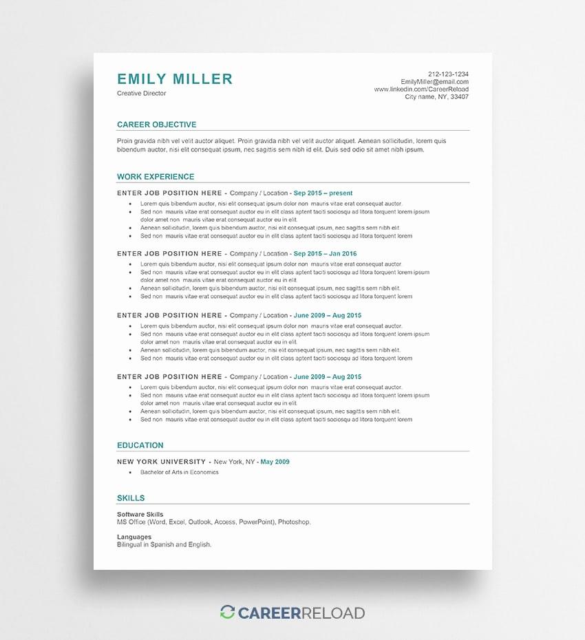 Free Word Resume Templates 2018 Luxury Free Word Resume Templates Free Microsoft Word Cv Templates