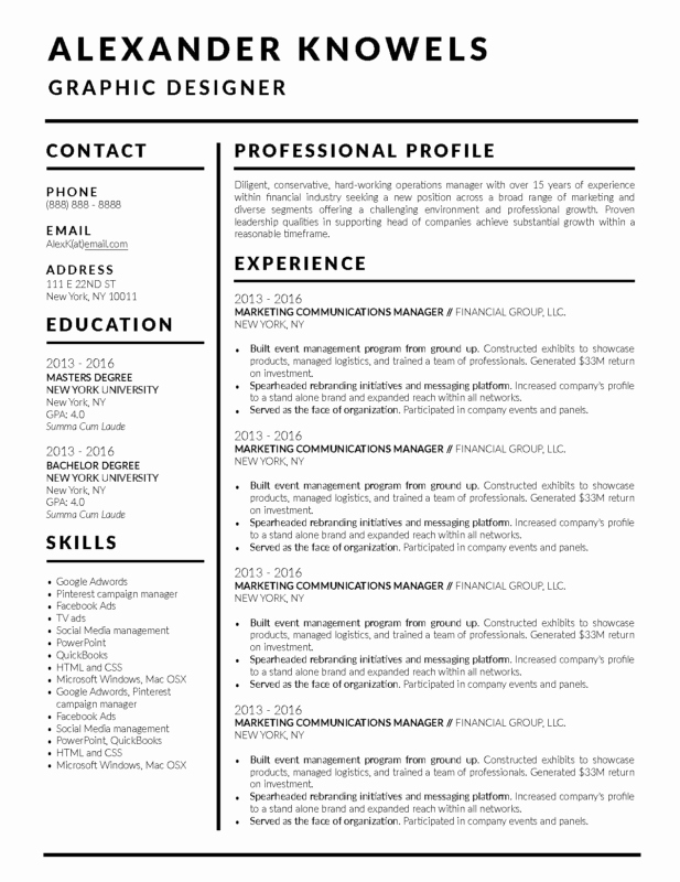 Free Word Resume Templates 2018 New 2018 Best Clean and Simple Resume Templates top 5