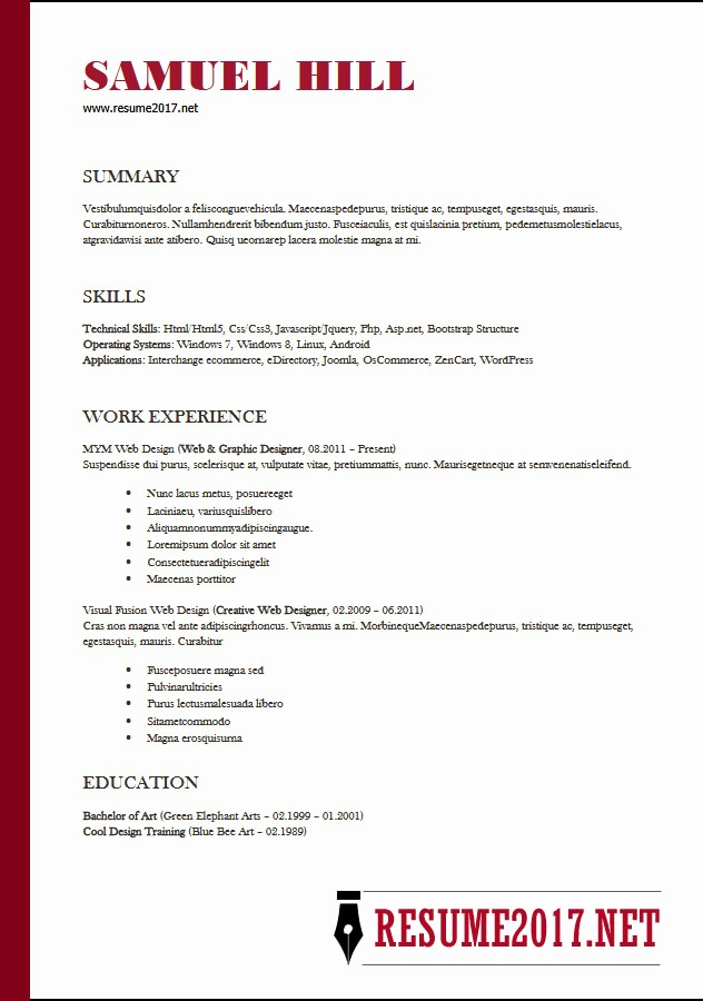 Free Word Resume Templates 2018 New Resume format 2018 16 Latest Templates In Word