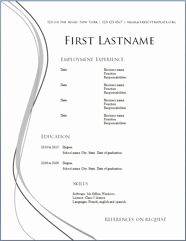Free Word Resume Templates Download Inspirational 4219 Best Images About Job Resume format On Pinterest
