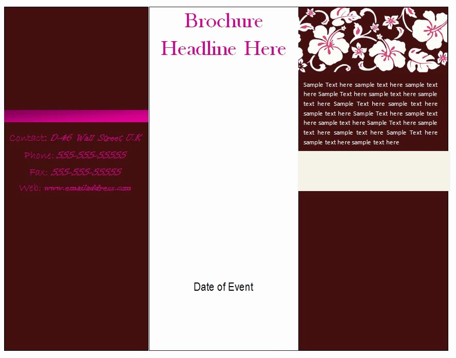 Free Word Templates for Flyers Elegant Free Brochure Template