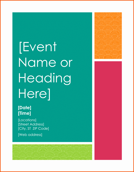 Free Word Templates for Flyers Inspirational 8 Free Flyer Templates for Word Bookletemplate
