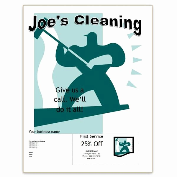 Free Word Templates for Flyers Lovely Free Fice Cleaning Flyer Templates for Publisher and Word