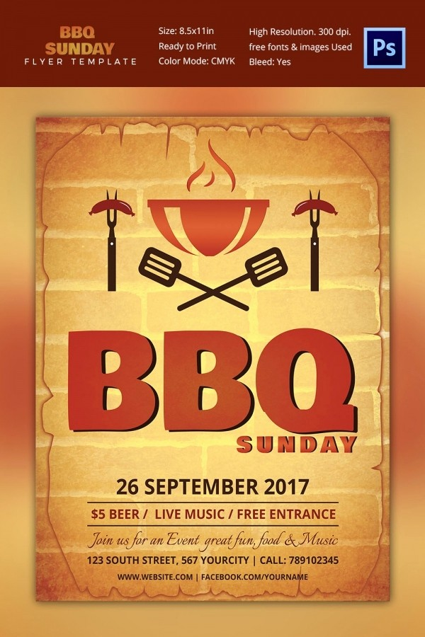 Free Word Templates for Flyers Luxury 25 Bbq Flyer Template Free Word Pdf Psd Eps