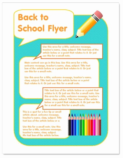 Free Word Templates for Flyers New Back to School Flyer Template