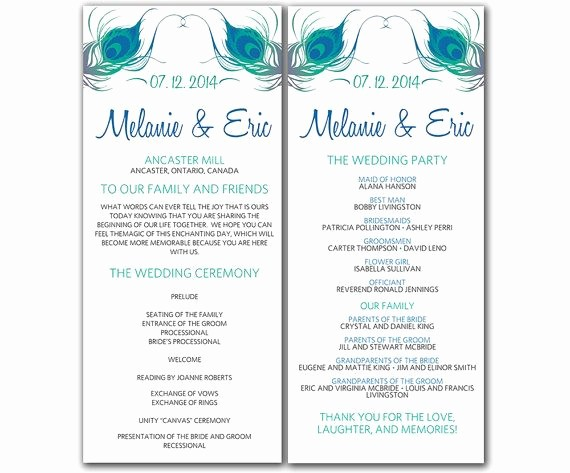 Free Word Wedding Program Template Awesome 7 Best Of Free Printable Wedding Ceremony Programs