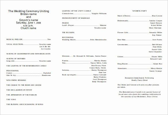 Free Word Wedding Program Template Beautiful 8 Word Wedding Program Templates Free Download