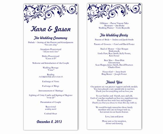 Free Word Wedding Program Template Beautiful Wedding Program Template Word
