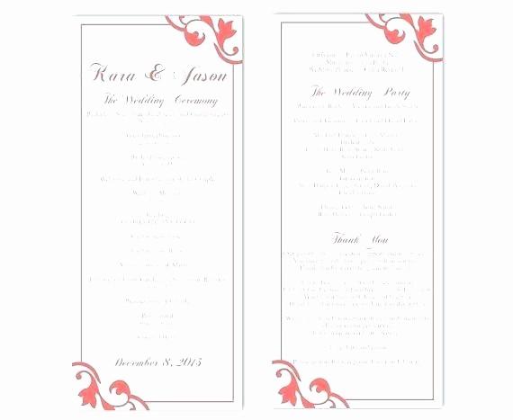 Free Word Wedding Program Template Best Of Free Downloadable Wedding Program Templates Template