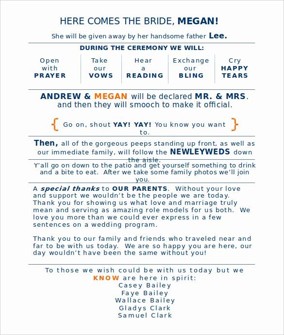 Free Word Wedding Program Template Best Of Wedding Program Template 41 Free Word Pdf Psd