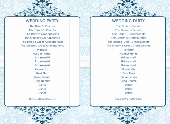 Free Word Wedding Program Template Elegant 8 Word Wedding Program Templates Free Download