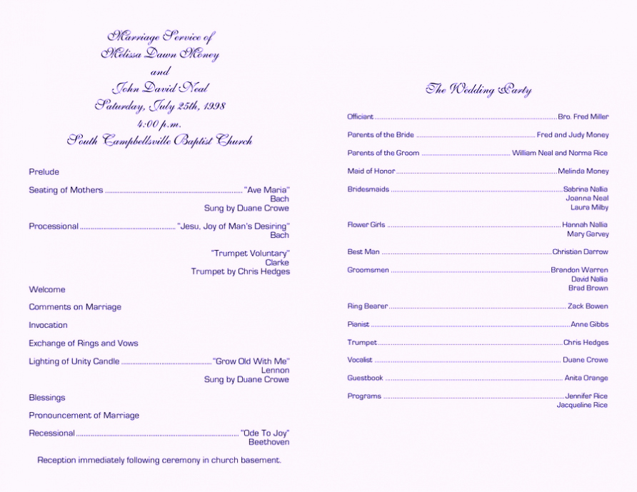 Free Word Wedding Program Template Elegant Free Wedding Program Template Word