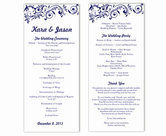 Free Word Wedding Program Template Elegant Program Template Word