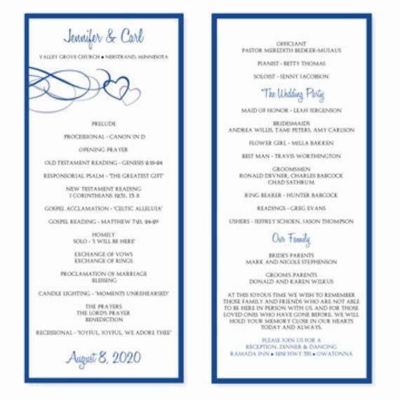 Free Word Wedding Program Template Inspirational Wedding Program Template Download Instantly by Karmakweddings