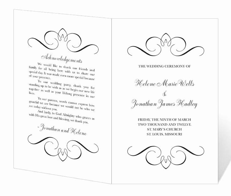Free Word Wedding Program Template Lovely Free Printable Wedding Program Templates
