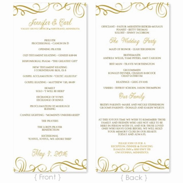 Free Word Wedding Program Template Unique Wedding Program Template Download Instantly Edit