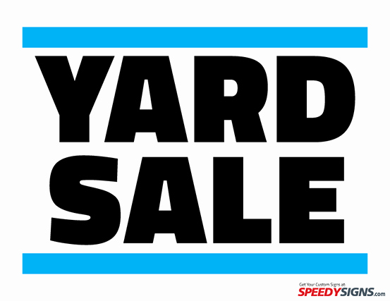Free Yard Sale Signs Templates Awesome 6 Best Of Printable Garage Sale Sticker Templates