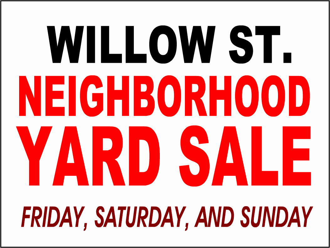 Free Yard Sale Signs Templates Awesome Yard Signs Bandit Signs Road Side Sign Coroplast
