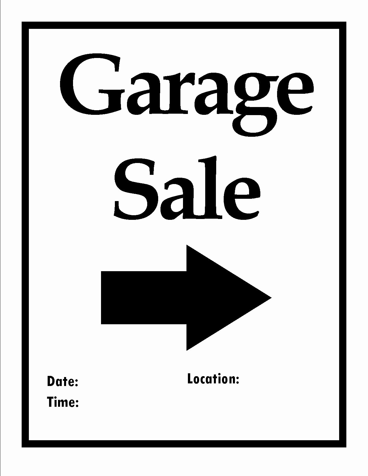 Free Yard Sale Signs Templates Beautiful Printable Items to organize Your Next Move