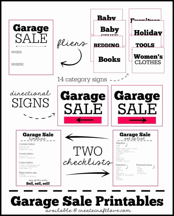 Free Yard Sale Signs Templates Best Of Garage Sale Printables