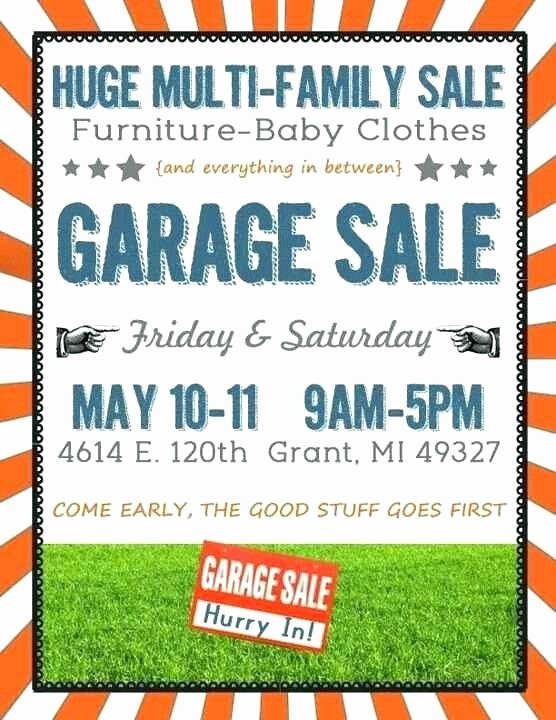 Free Yard Sale Signs Templates Best Of Yard Sales Flyers Garage Sale Flyers 4 Garage Sale Flyer