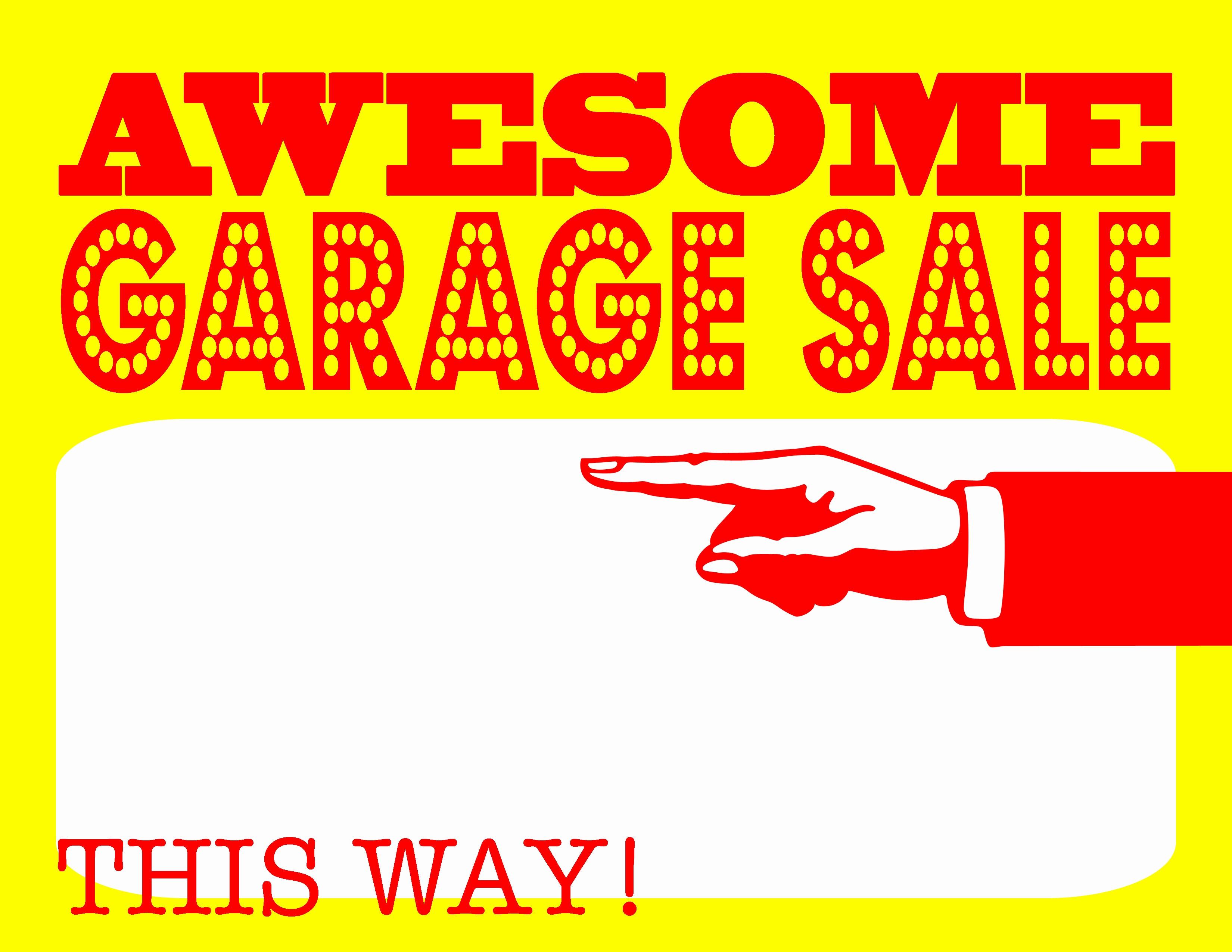 Free Yard Sale Signs Templates Elegant Garage Sale 2