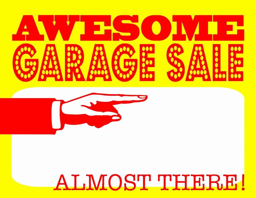 Free Yard Sale Signs Templates Elegant Garage Sale 3
