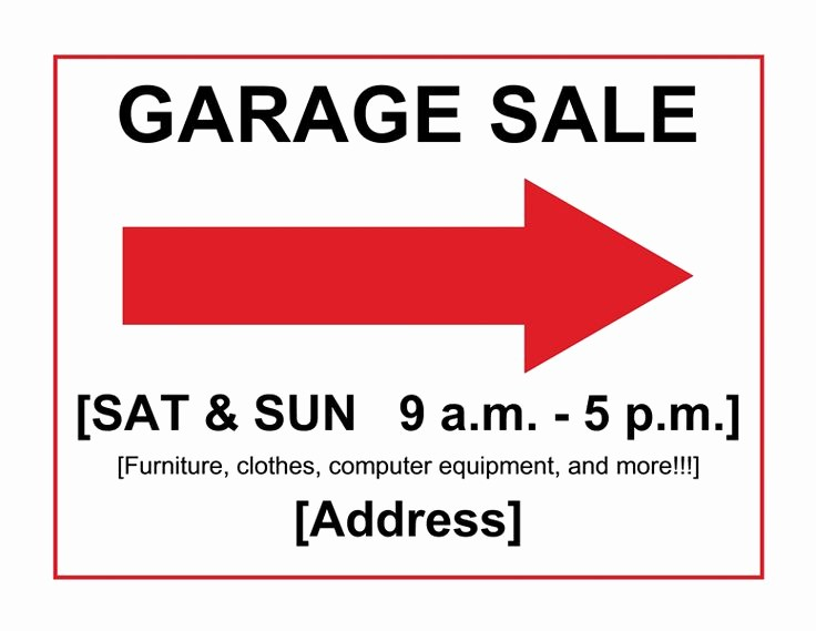 Free Yard Sale Signs Templates Elegant Garage Sale Sign Templates Clean House