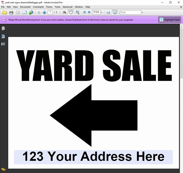 Free Yard Sale Signs Templates Fresh Editable Yard Sale Sign Freebies Dream A Little Bigger