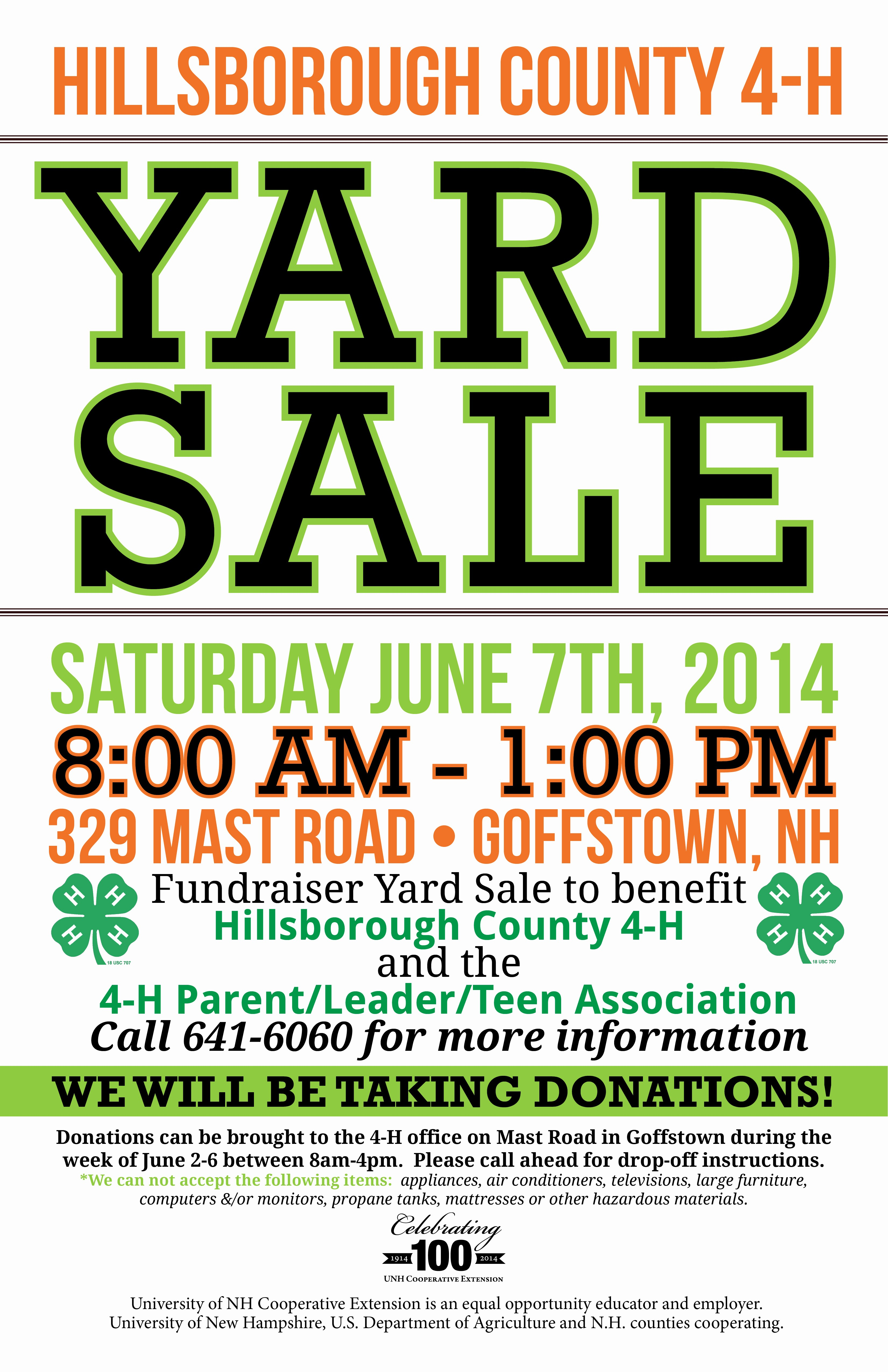 Free Yard Sale Signs Templates Luxury 4 H Youth Development