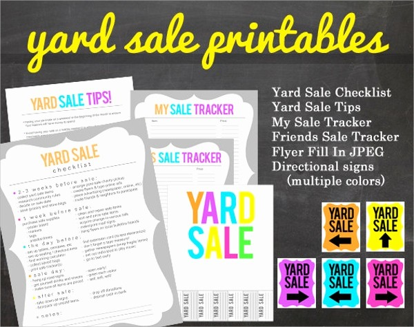 Free Yard Sale Signs Templates New 27 Yard Sale Flyer Templates