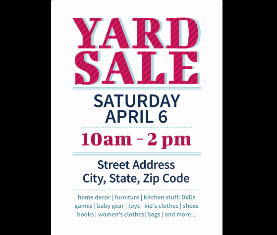 Free Yard Sale Signs Templates Unique Download This Yard Sale Flyer Template and Other Free