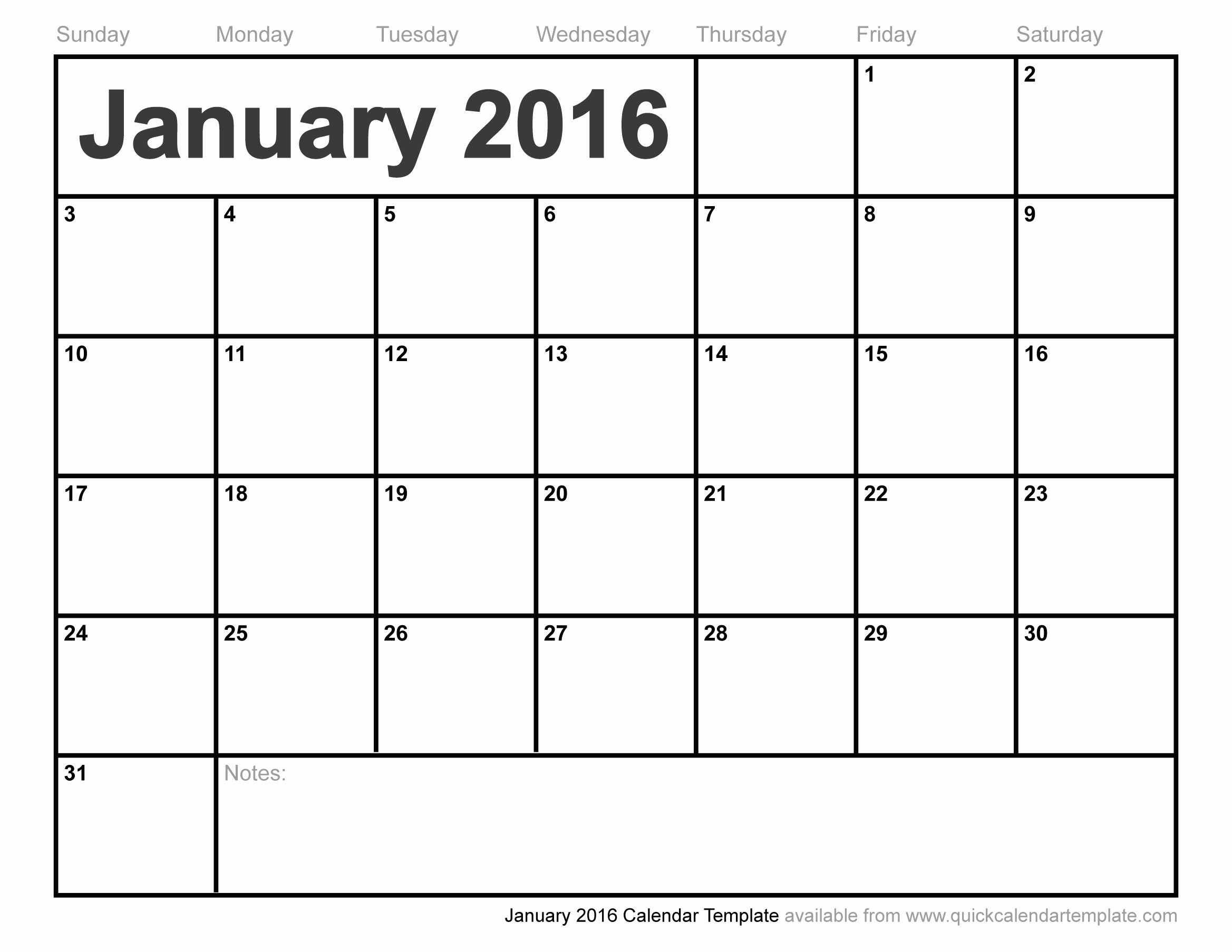 Free Year Calendar Template 2016 Best Of January 2016 Calendar Template