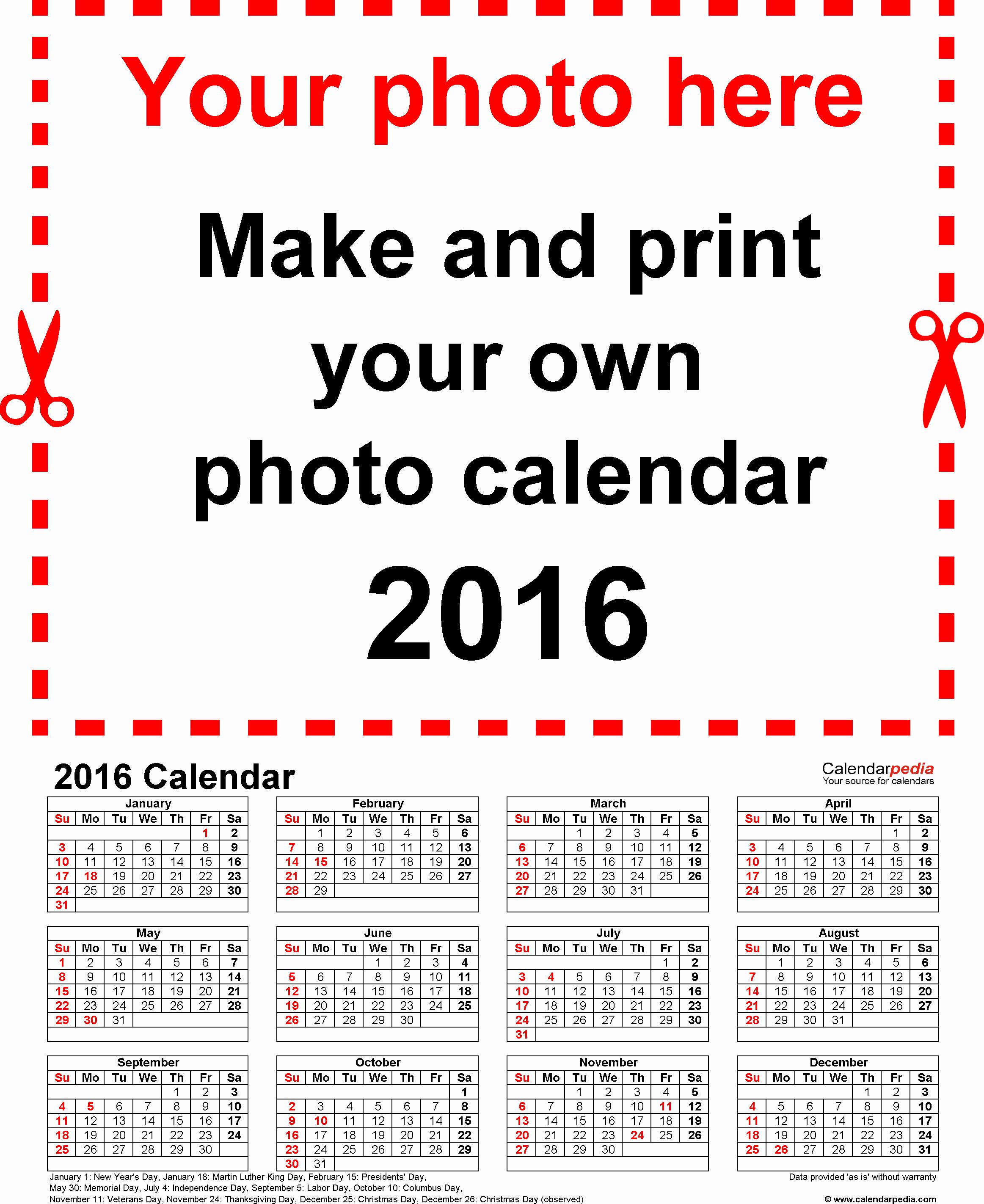 Free Year Calendar Template 2016 Elegant Calendar 2016 Free Printable Excel Templates