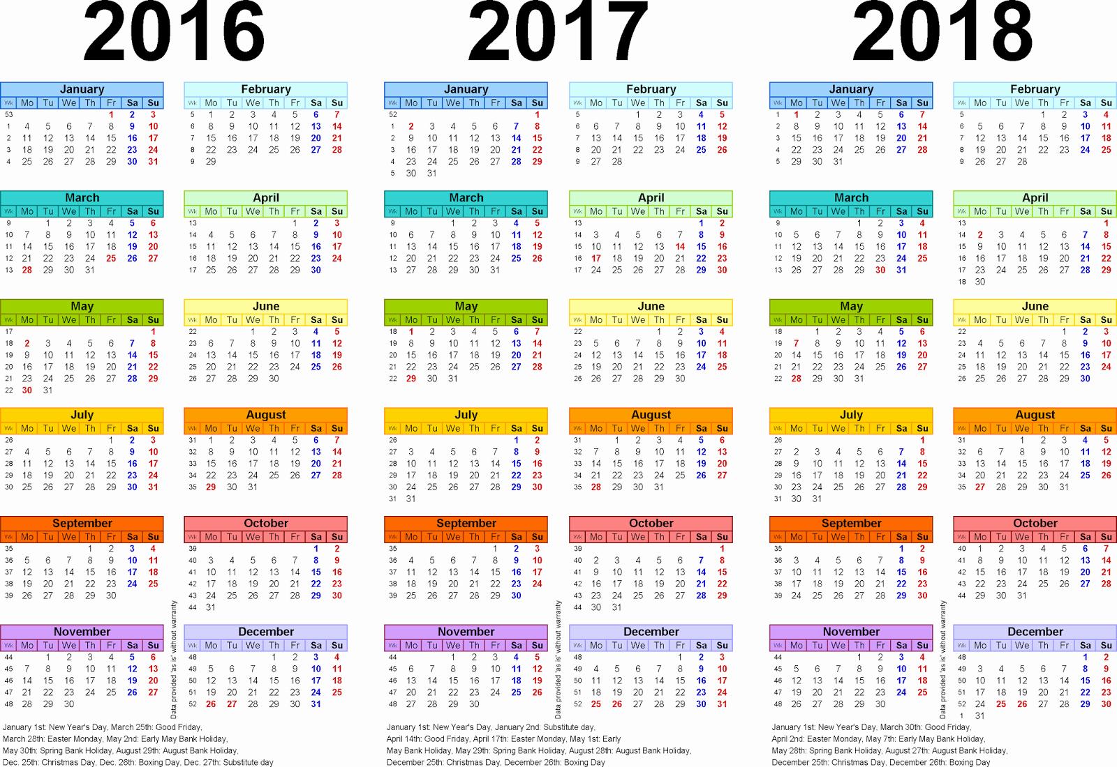 Free Year Calendar Template 2016 Inspirational [free] Printable Calendar 2016