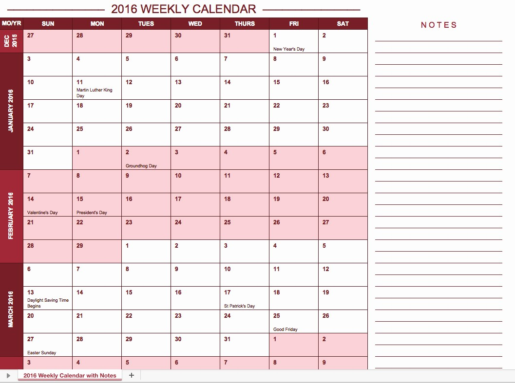 Free Year Calendar Template 2016 Luxury Free Excel Calendar Templates