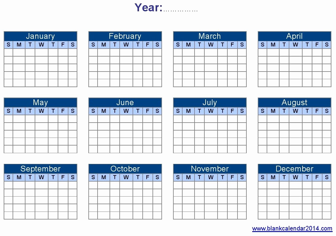 Free Year Calendar Template 2016 Luxury Yearly Calendar Template