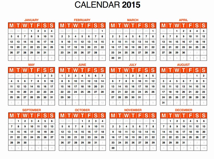 Free Yearly Calendar Templates 2015 Awesome 60 Best 2015 Yearly Calendar Templates to Download